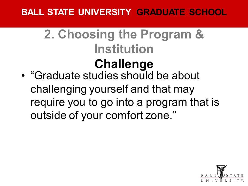 2. Choosing the Program & Institution Challenge