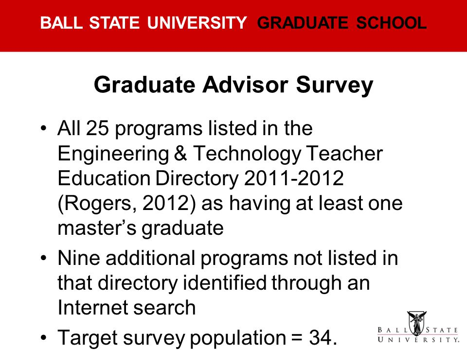 Graduate Advisor Survey