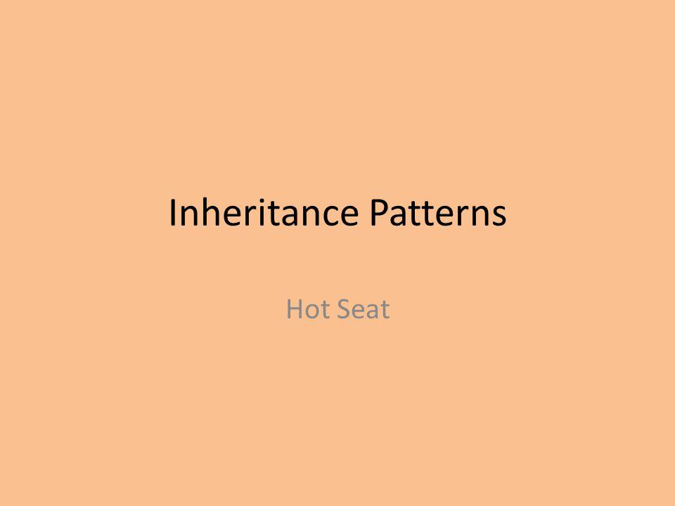 Inheritance Patterns Hot Seat