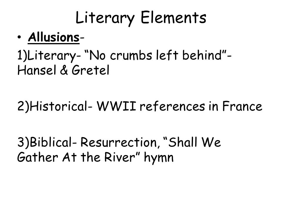 Literary Elements Allusions-