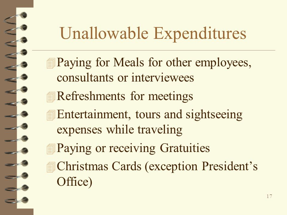 Unallowable Expenditures