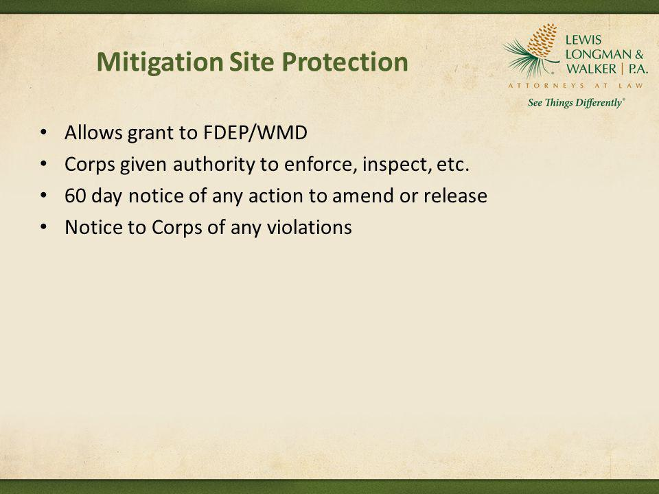 Mitigation Site Protection