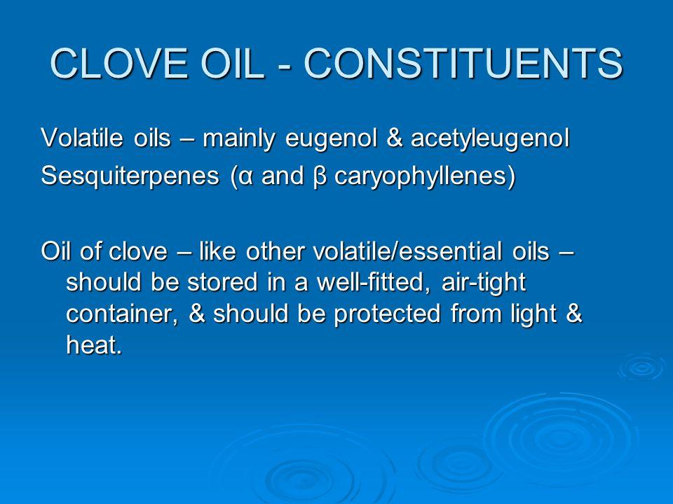 CLOVE OIL - CONSTITUENTS