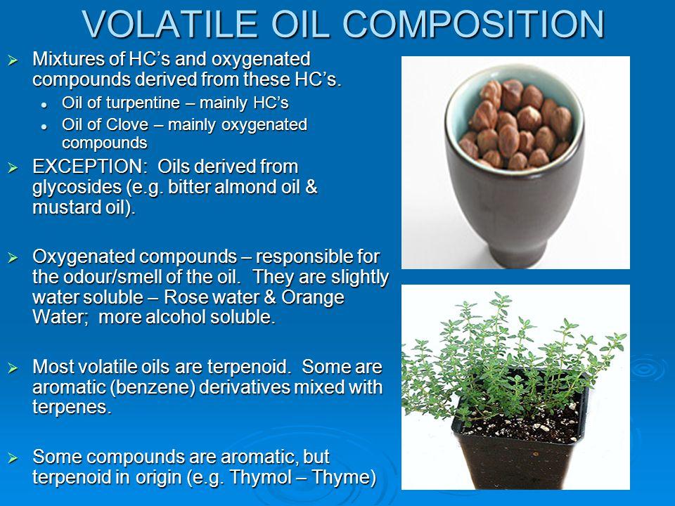 VOLATILE OIL COMPOSITION