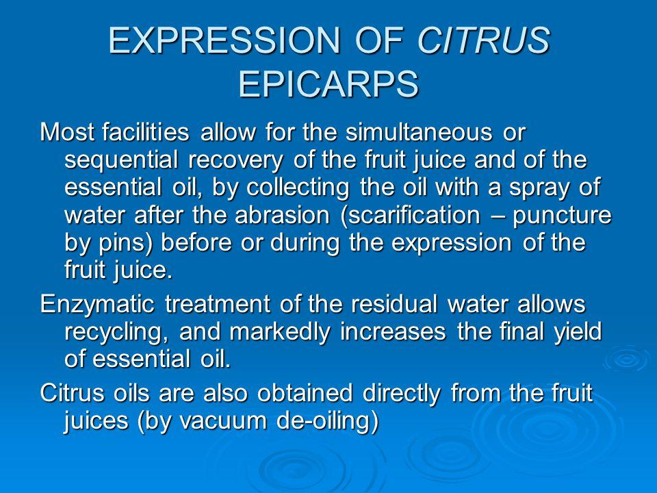 EXPRESSION OF CITRUS EPICARPS