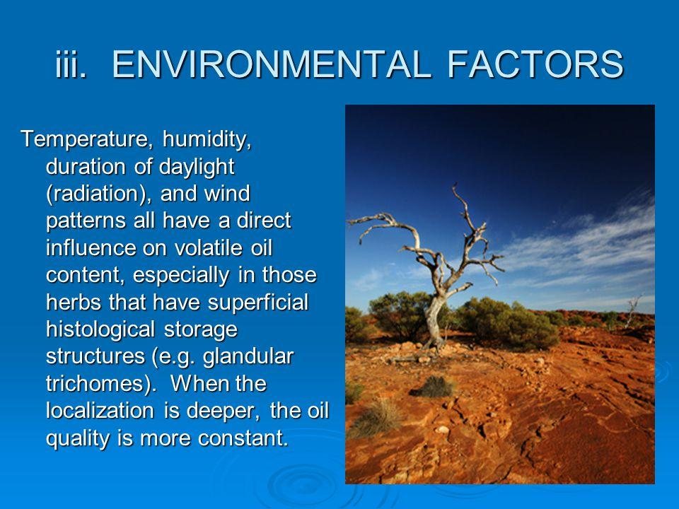 iii. ENVIRONMENTAL FACTORS