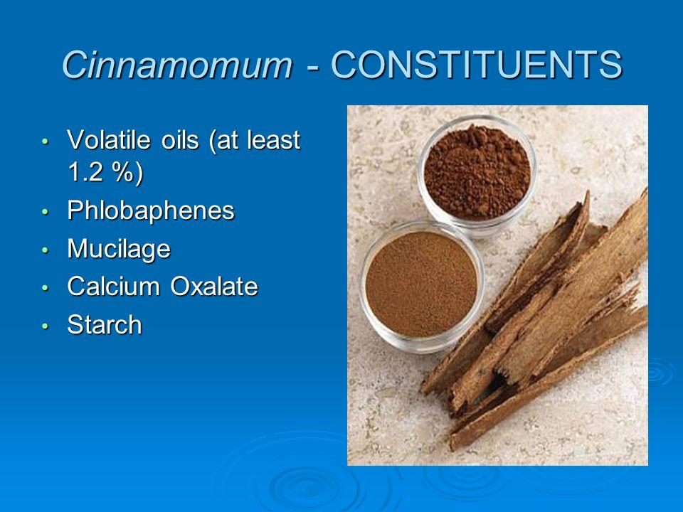 Cinnamomum - CONSTITUENTS