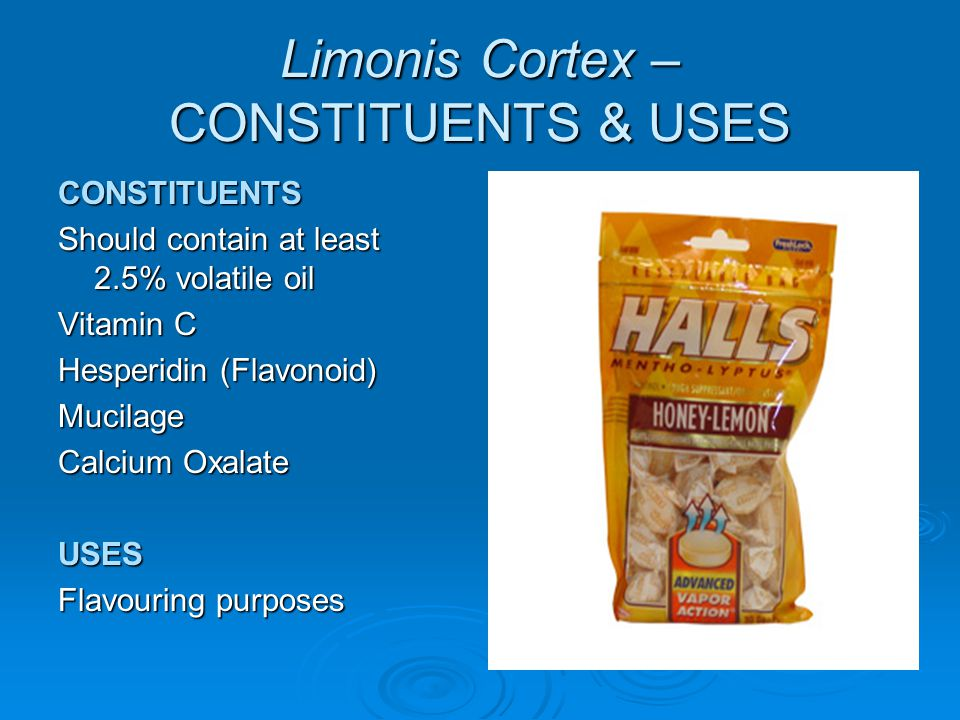 Limonis Cortex – CONSTITUENTS & USES