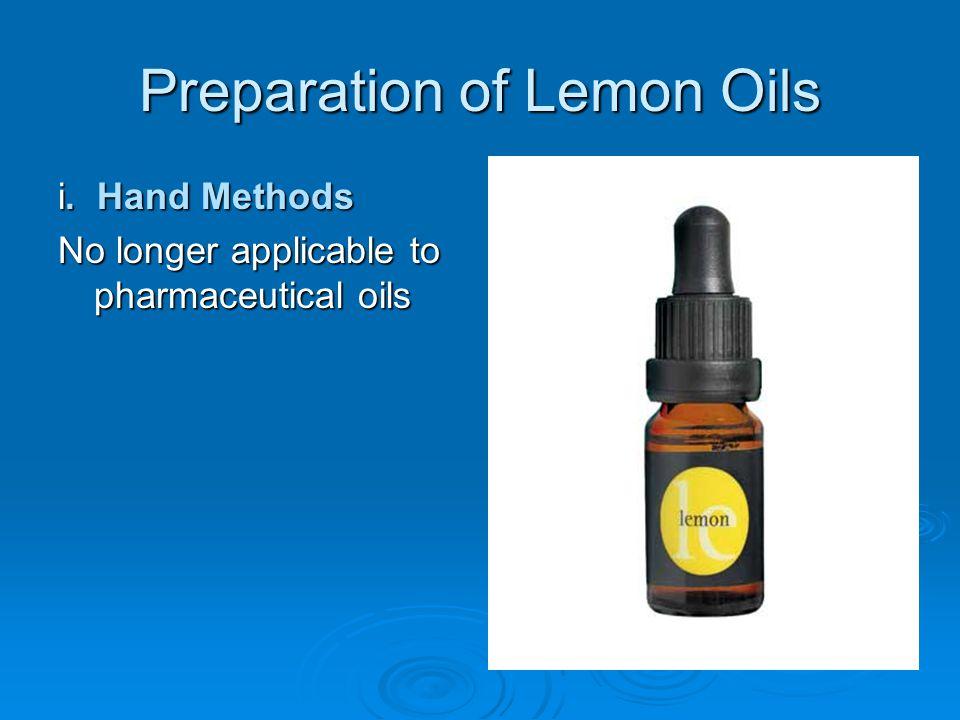 Preparation of Lemon Oils