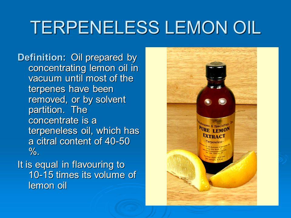 TERPENELESS LEMON OIL