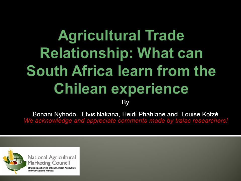 Agricultural Trade Relationship: What can South Africa learn from the Chilean experience