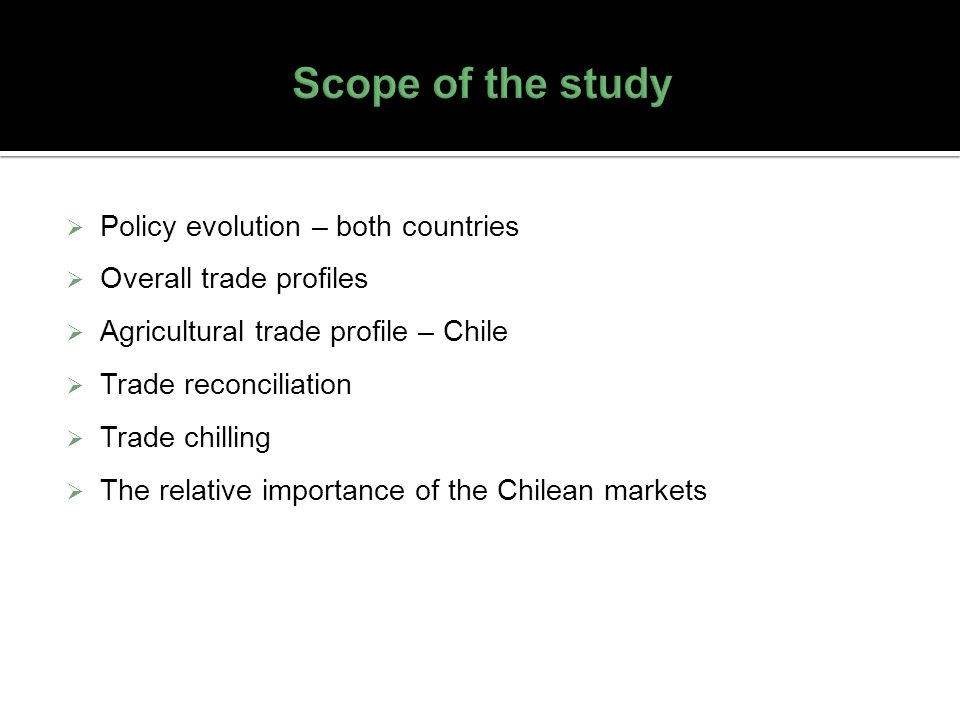 Scope of the study Policy evolution – both countries