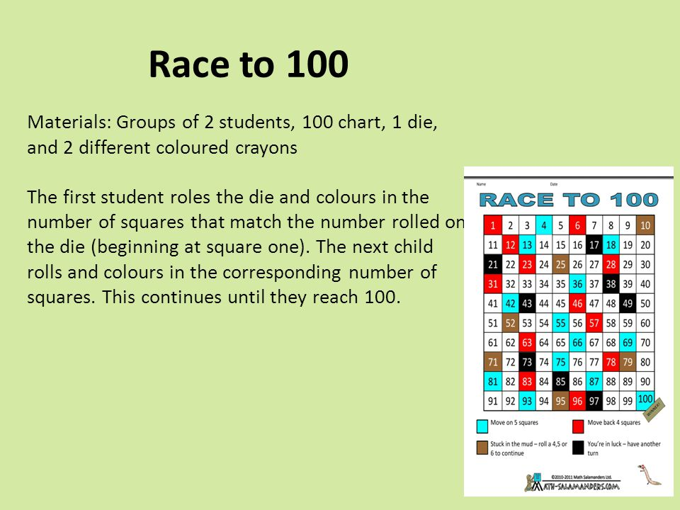 Race to 100