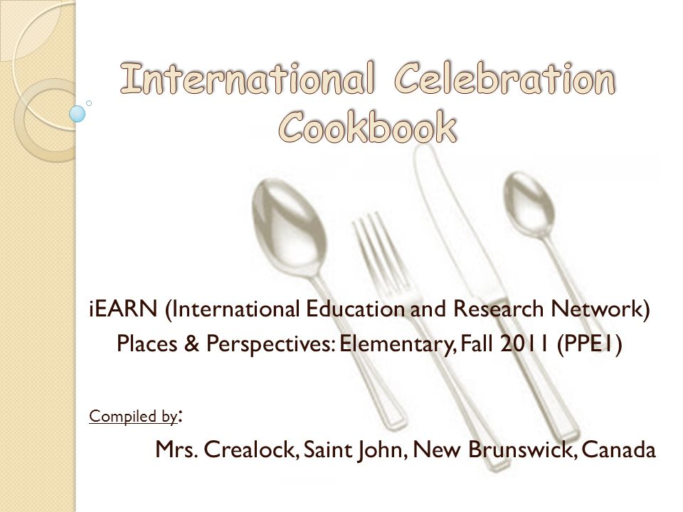 International Celebration Cookbook
