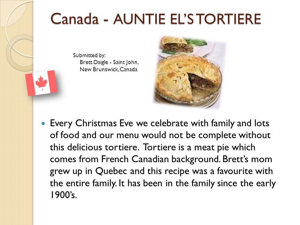 Canada - AUNTIE EL'S TORTIERE