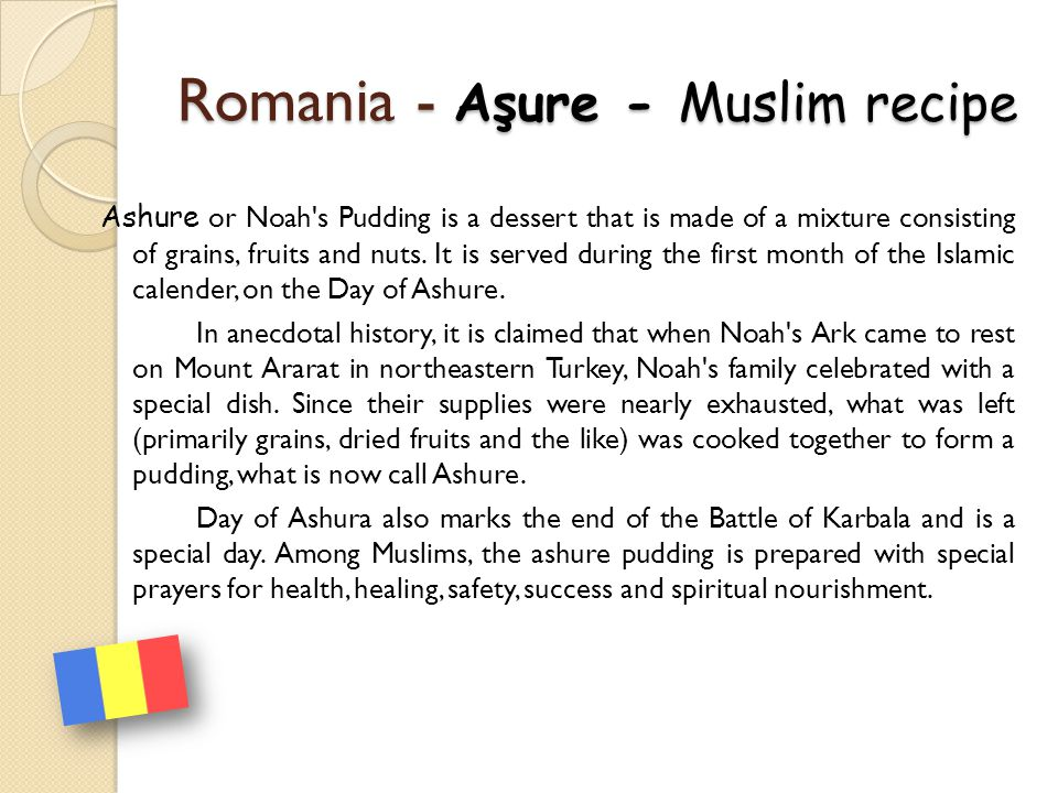 Romania - Aşure - Muslim recipe