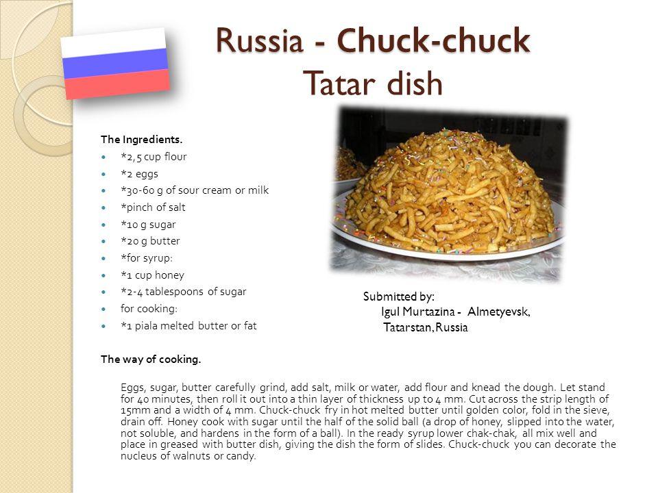 Russia - Chuck-chuck Tatar dish