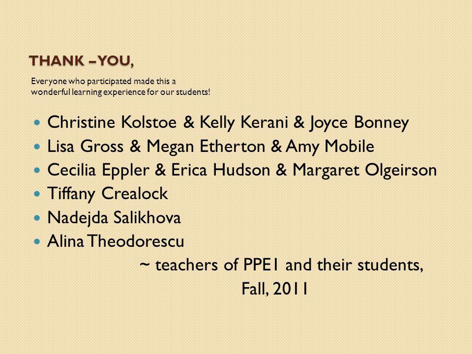 Christine Kolstoe & Kelly Kerani & Joyce Bonney