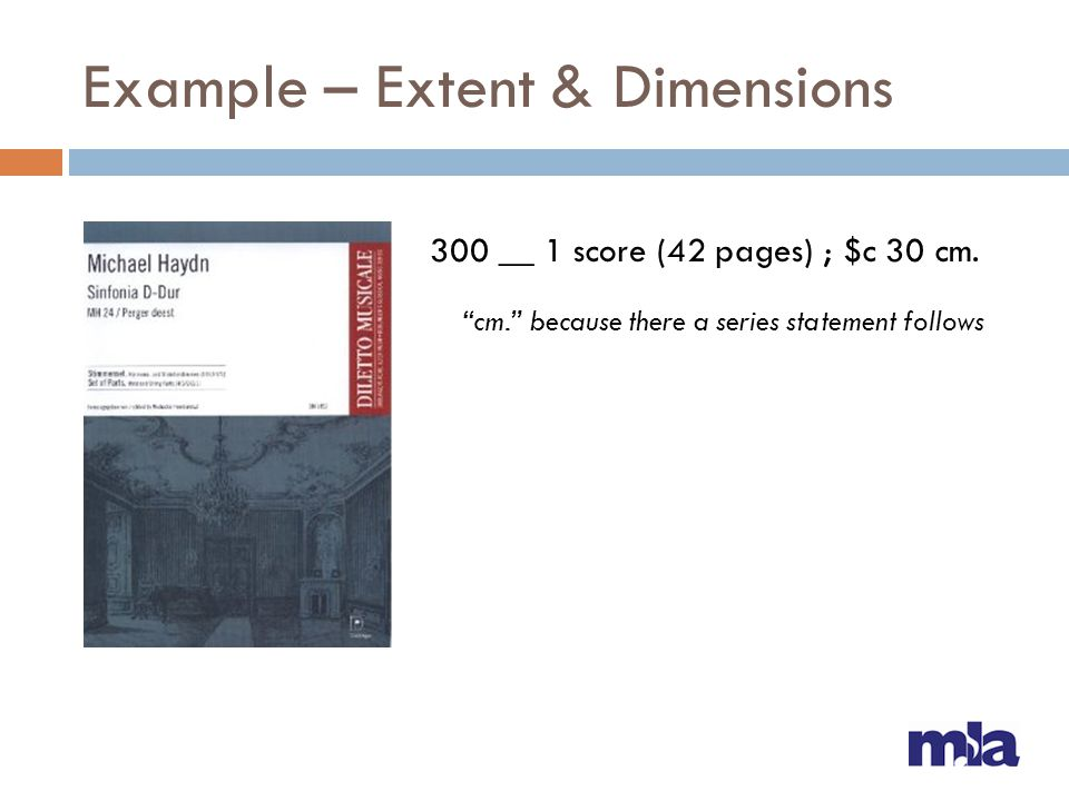 Example – Extent & Dimensions