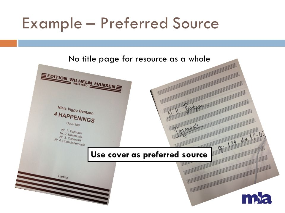 Example – Preferred Source