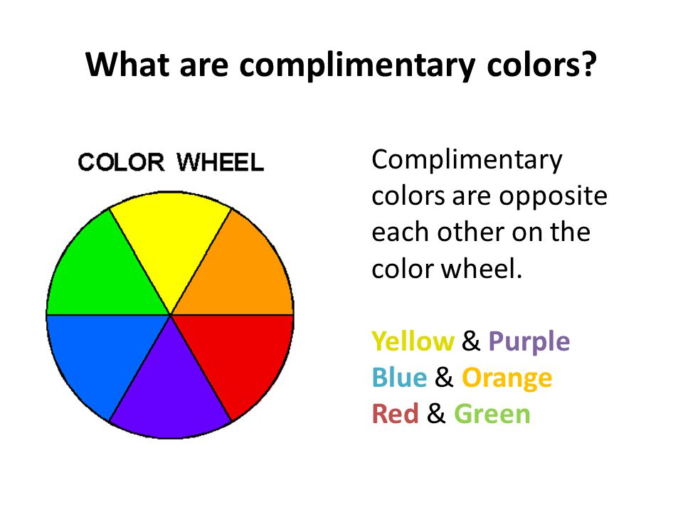 What are complimentary colors