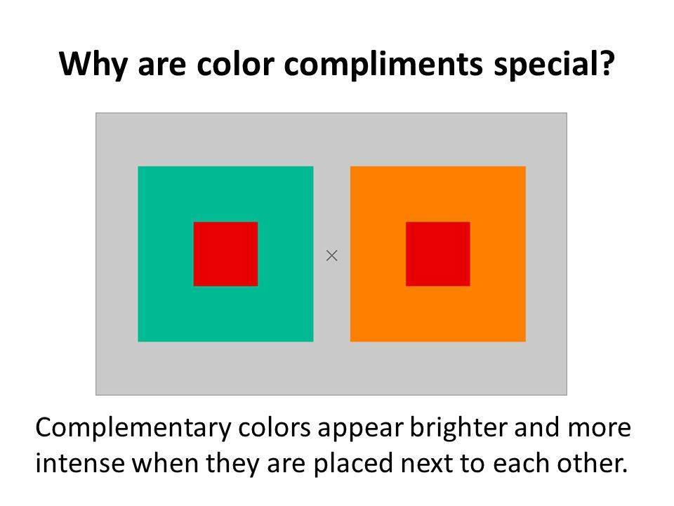 Why are color compliments special