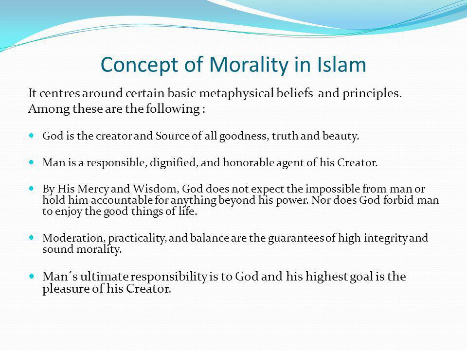 Concept of Morality in Islam
