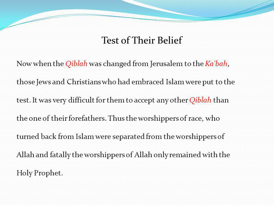 Test of Their Belief