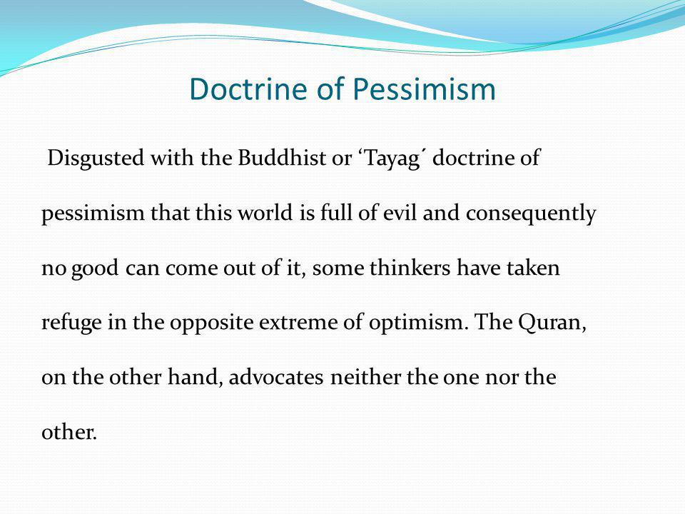 Doctrine of Pessimism