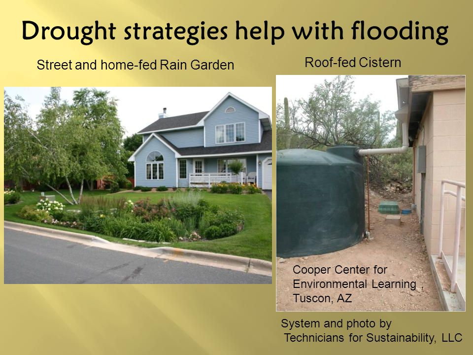Drought strategies help with flooding