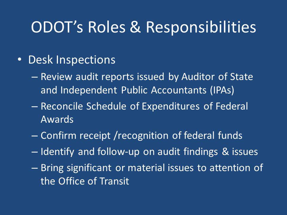 ODOT's Roles & Responsibilities