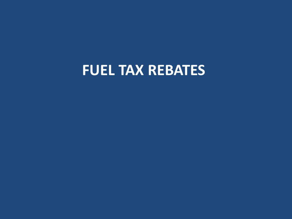 Fuel tax rebates