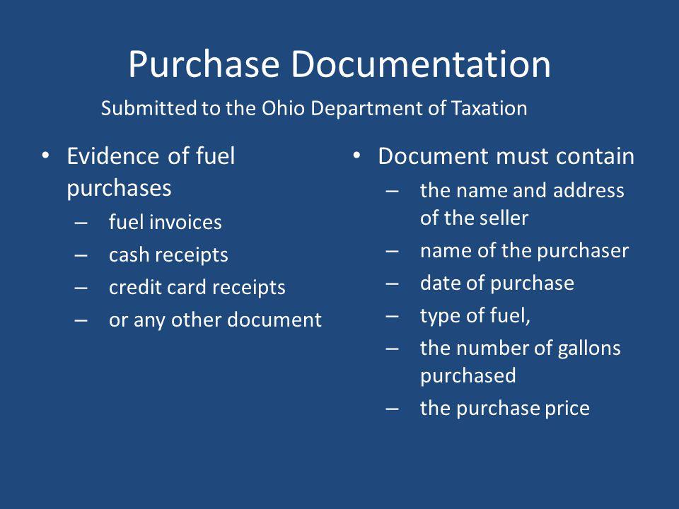 Purchase Documentation