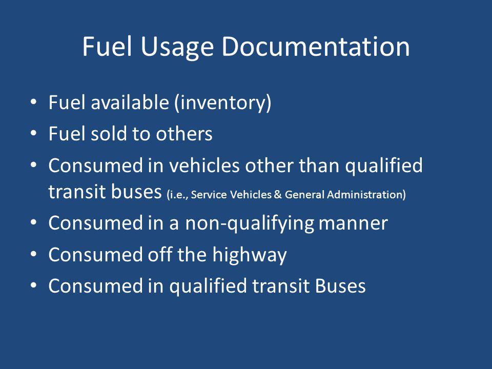 Fuel Usage Documentation