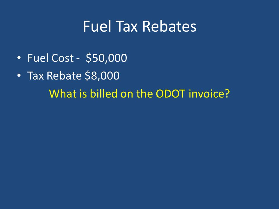 What is billed on the ODOT invoice