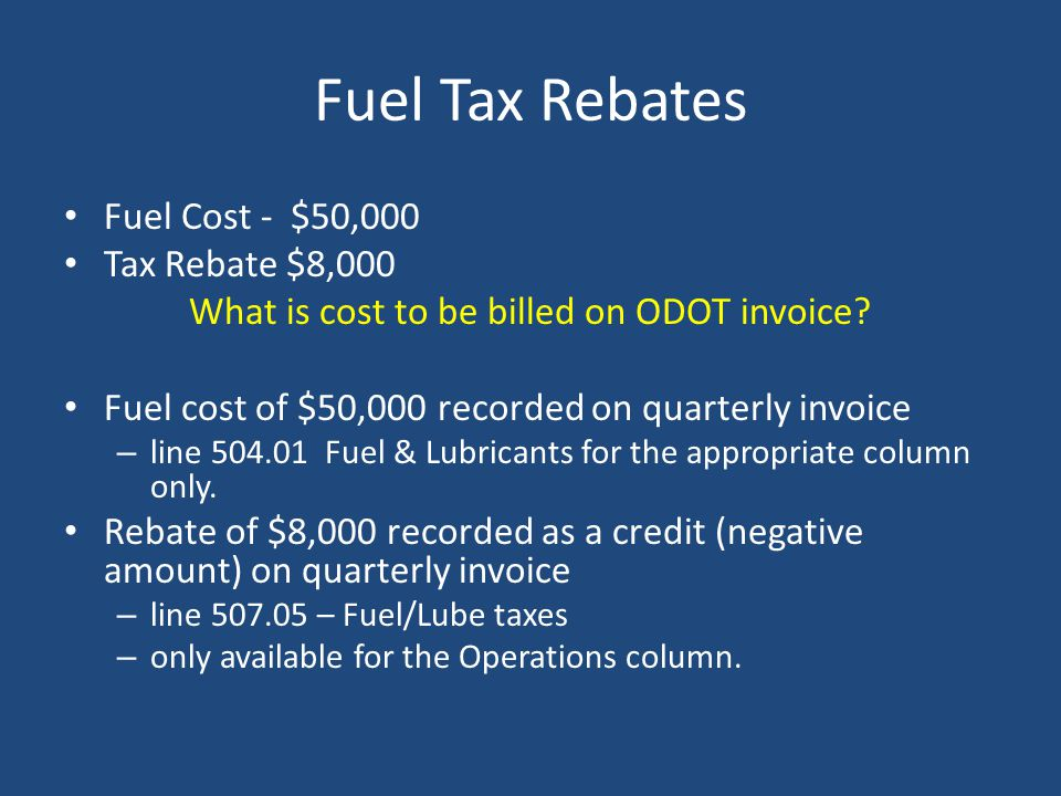 What is cost to be billed on ODOT invoice