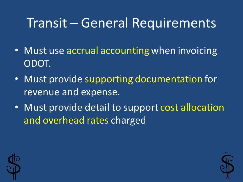 Transit – General Requirements