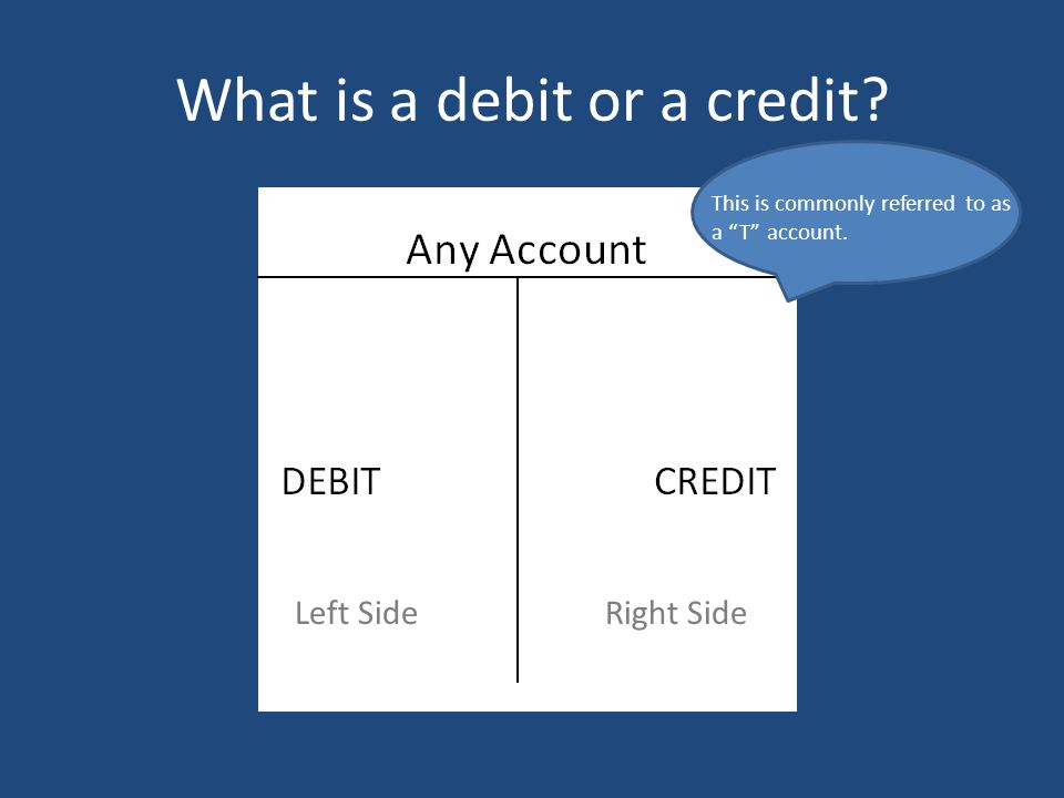What is a debit or a credit