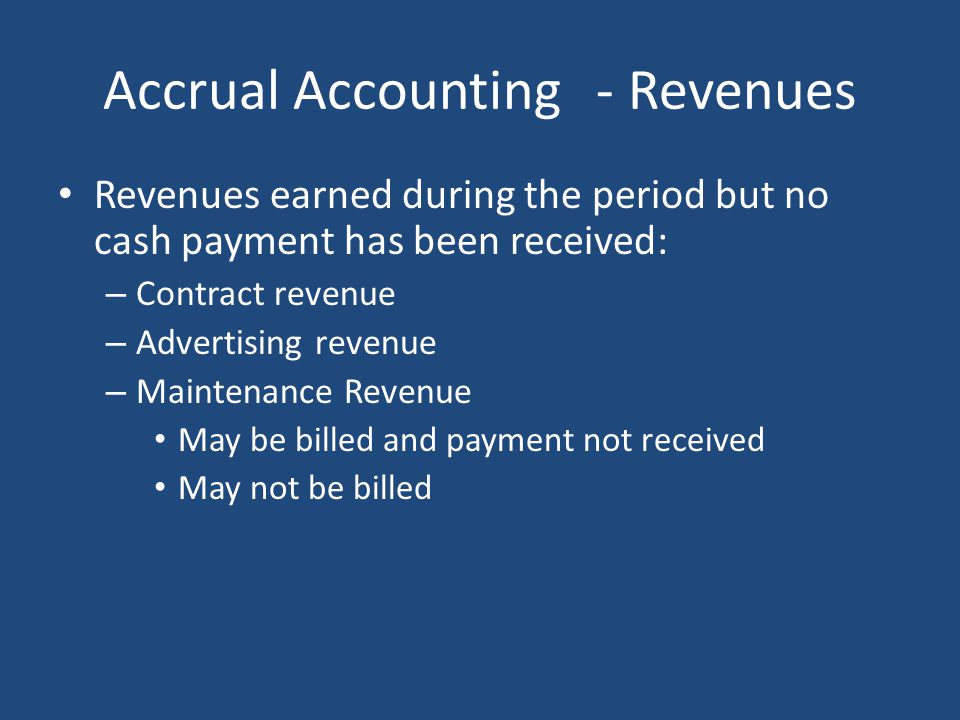 Accrual Accounting - Revenues