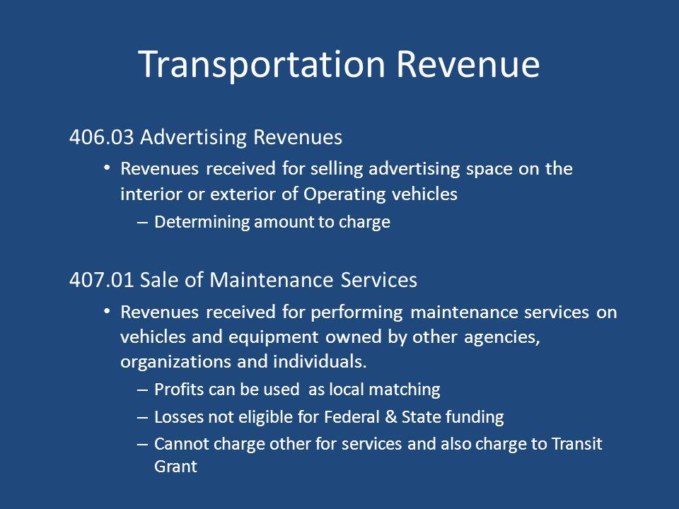 Transportation Revenue