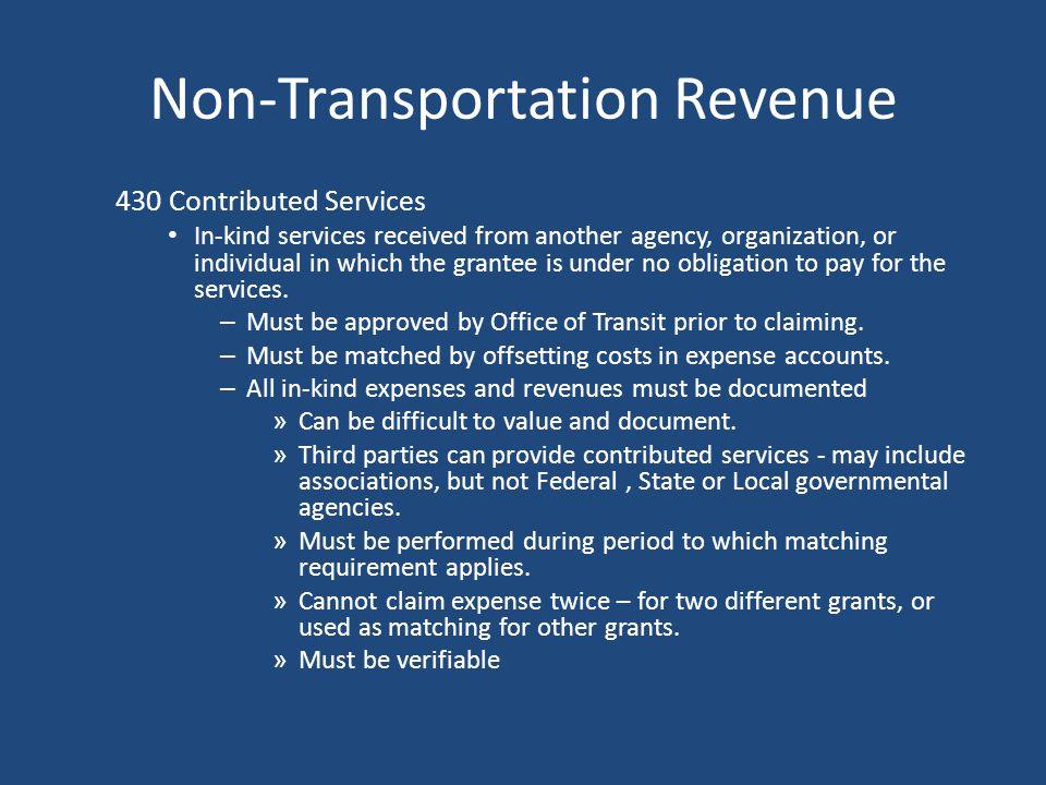 Non-Transportation Revenue