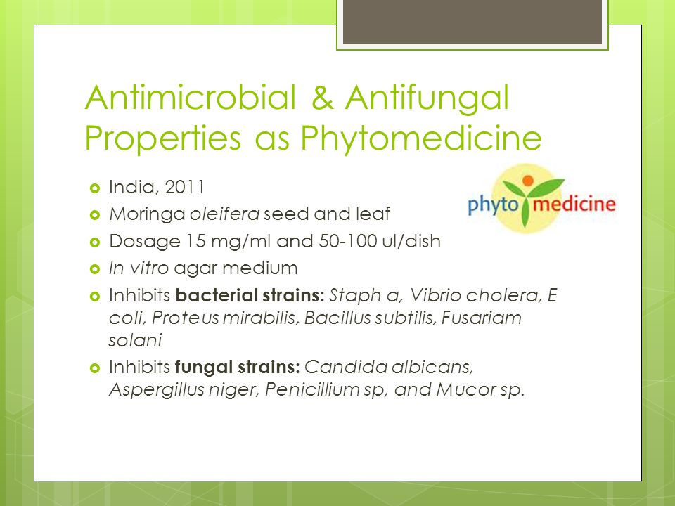 Antimicrobial & Antifungal Properties as Phytomedicine