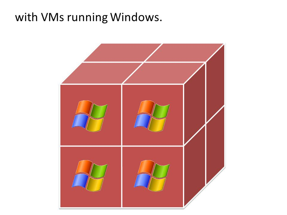 with VMs running Windows.
