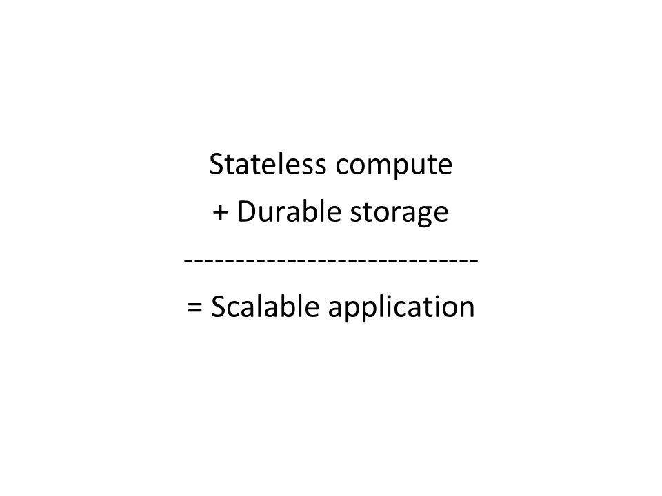 ----------------------------- = Scalable application