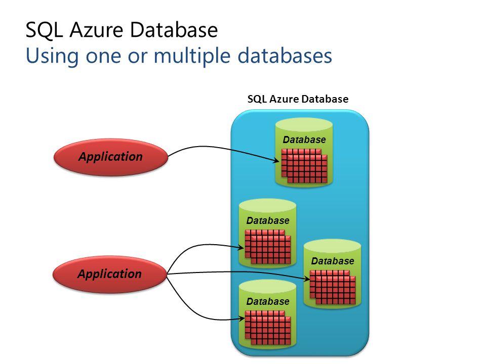 SQL Azure Database Using one or multiple databases
