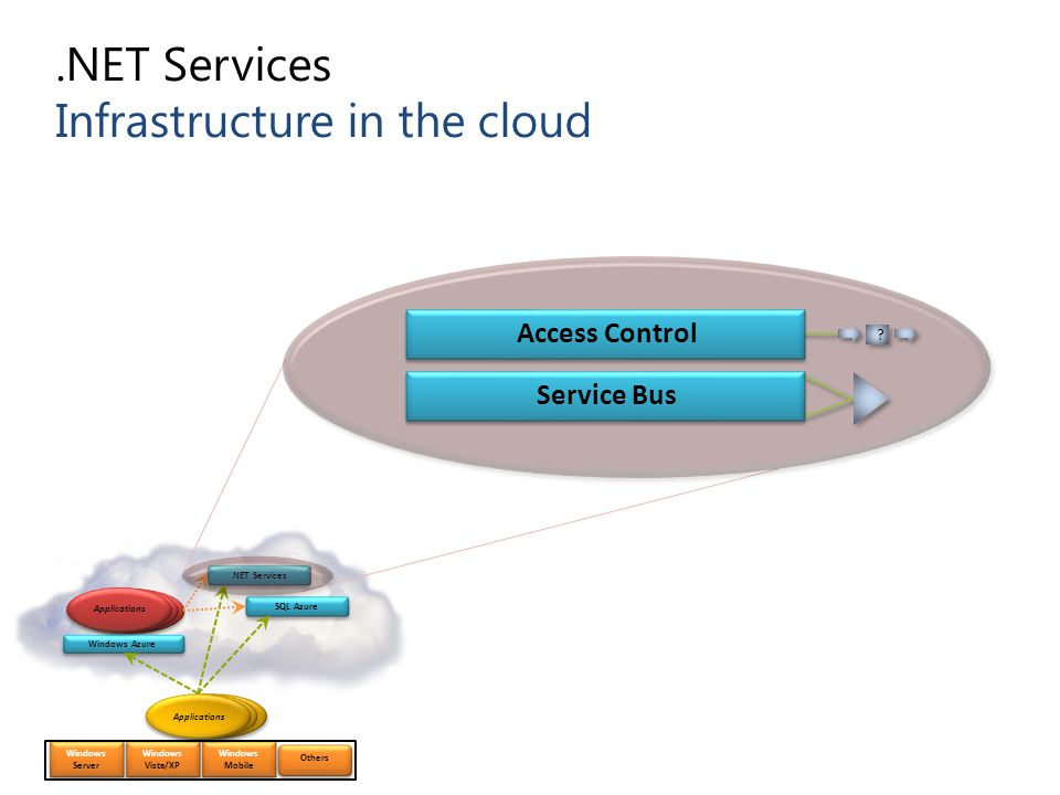 .NET Services Infrastructure in the cloud
