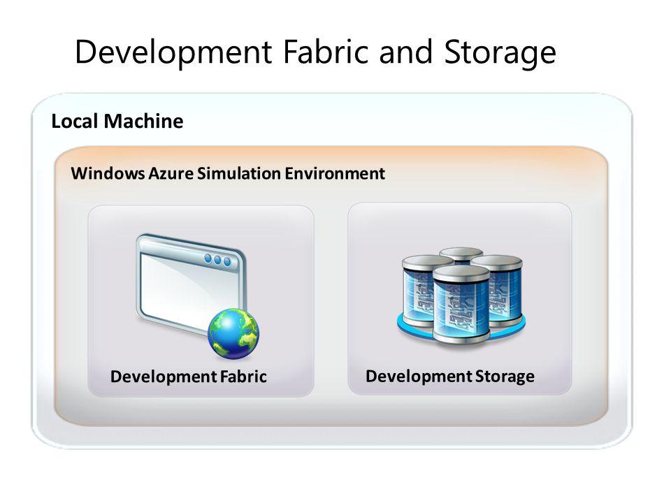 Development Fabric and Storage