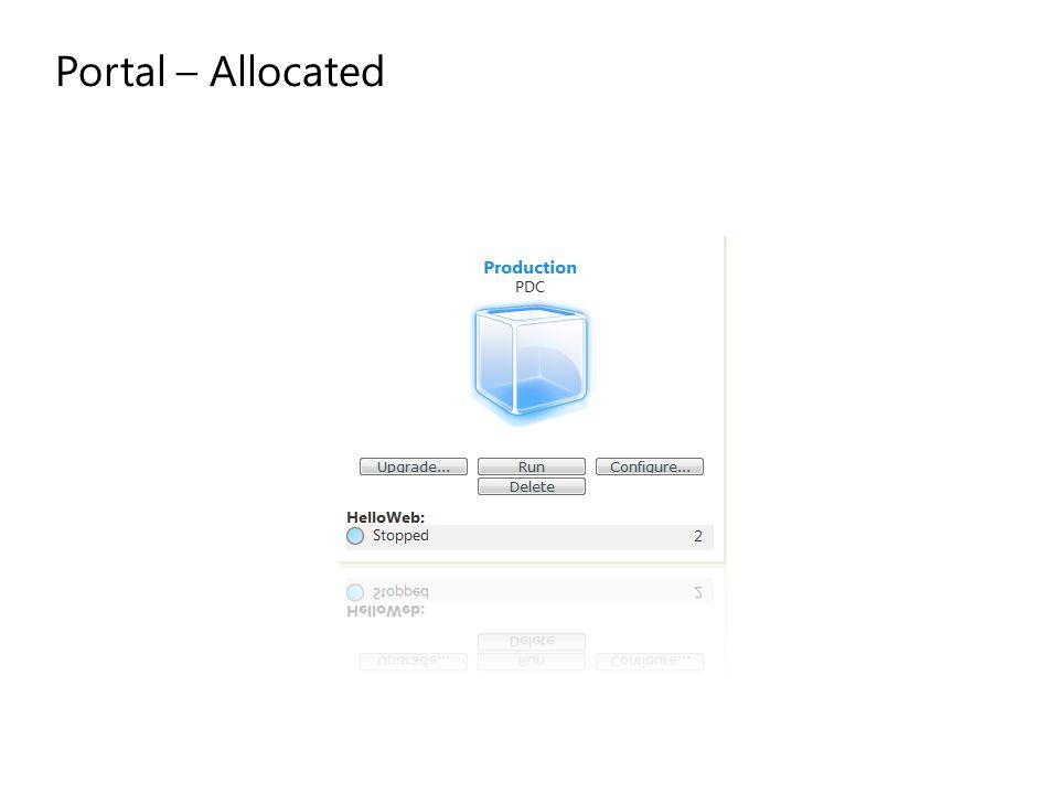Portal – Allocated