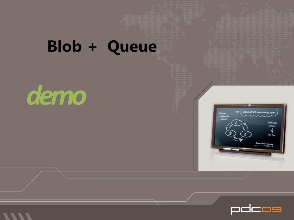 Blob + Queue demo