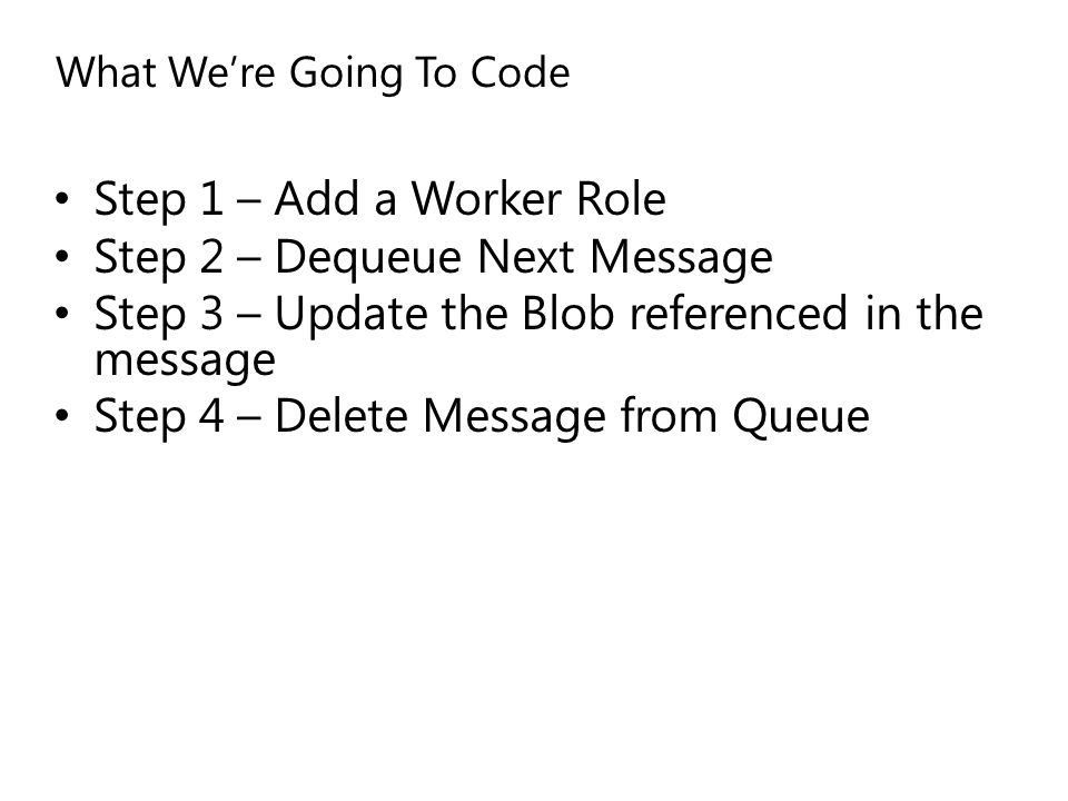What We're Going To Code